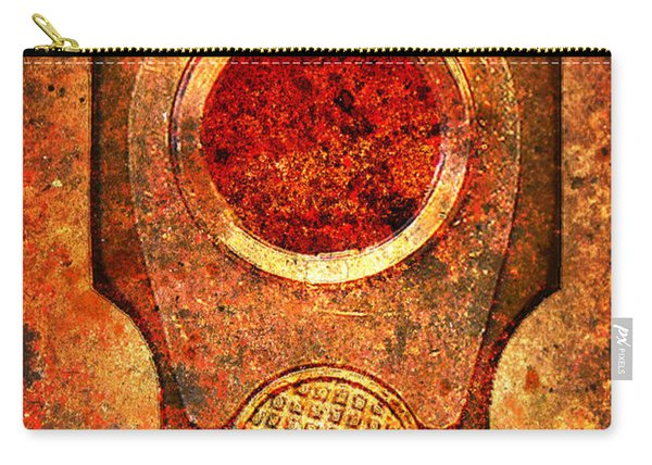 M1911 Muzzle On Rusted Background - With Red Filter Carry-all Pouch