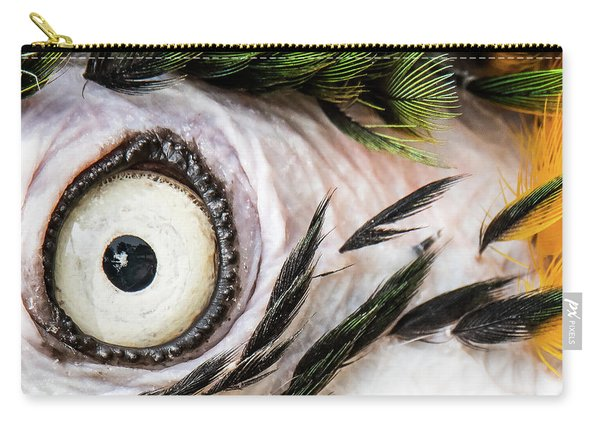 Macaw Up Close And Personal Carry-all Pouch