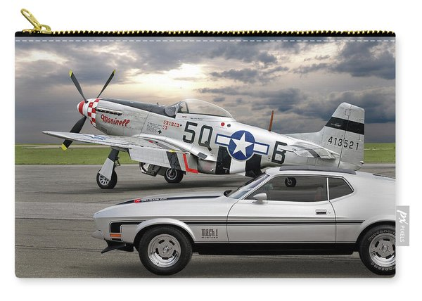 Mach 1 Mustang With P51  Carry-all Pouch