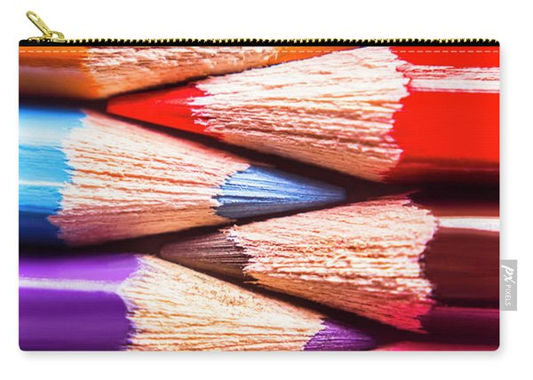 Macro Coloured Pencil Crossover Carry-all Pouch
