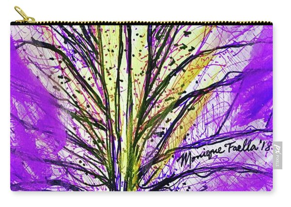 Macro Iris Petal Carry-all Pouch