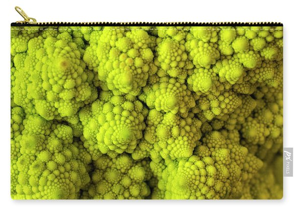 Macro Of Head Of Broccoli Romanesco Carry-all Pouch