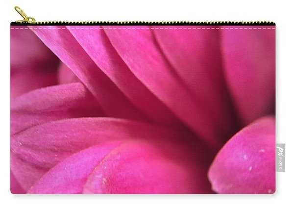 Macro Pink Chrysanthemum Carry-all Pouch