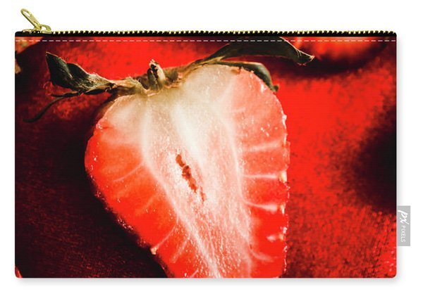 Macro Shot Of Ripe Strawberry Carry-all Pouch