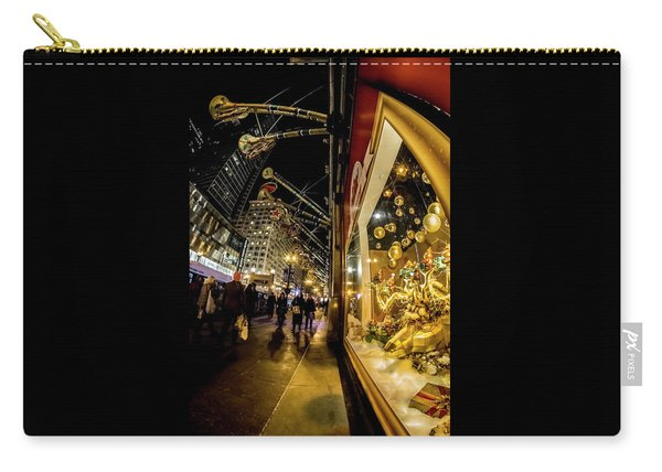 Macys Xmas Display In Chicago Carry-all Pouch