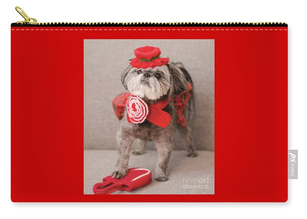 Madam Scarlett In All Red Carry-all Pouch