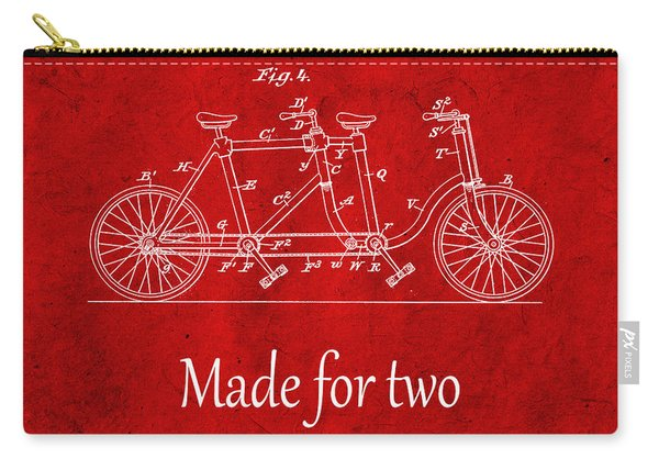 Made For Two - Red Carry-all Pouch