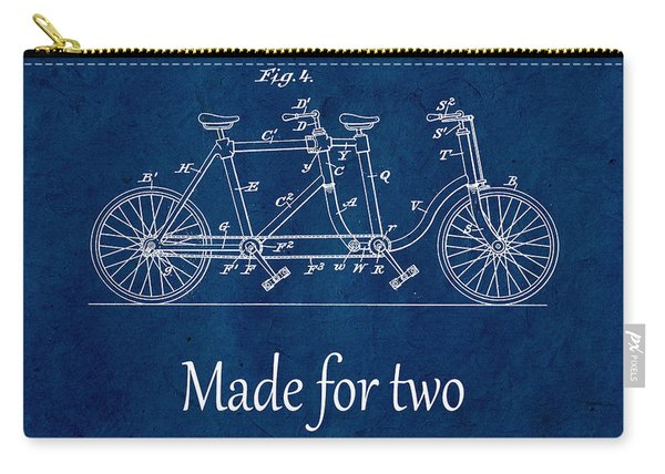 Made For Two - Blue Carry-all Pouch