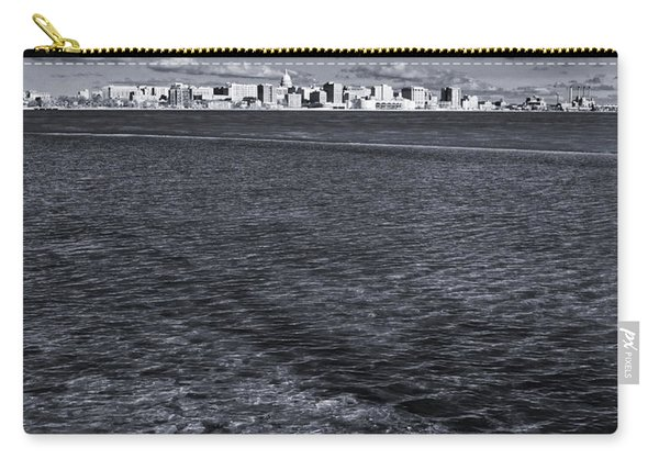 Madison Skyline - Black And White Carry-all Pouch