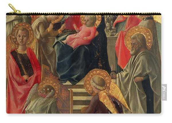 Madonna And Child Enthroned With Angels And Saints Carry-all Pouch