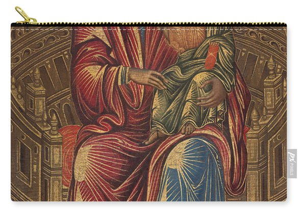 Madonna And Child On A Curved Throne Carry-all Pouch