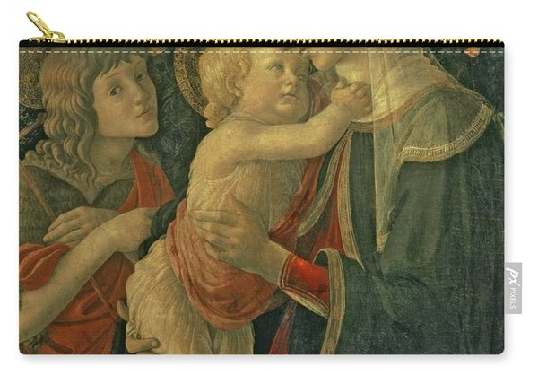 Madonna And Child With St. John The Baptist Carry-all Pouch