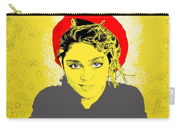Madonna On Yellow Carry-all Pouch