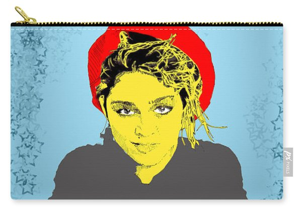 Madonna On Blue Carry-all Pouch