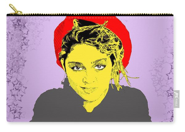 Madonna On Purple Carry-all Pouch