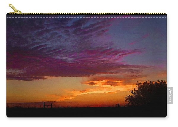 Magenta Morning Sky Carry-all Pouch