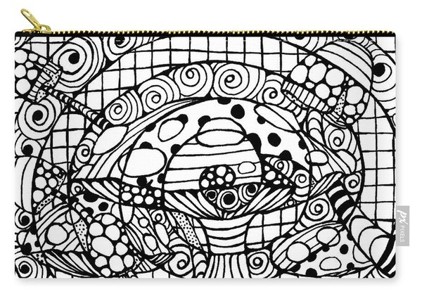 Magic Mushroom Tangle Carry-all Pouch