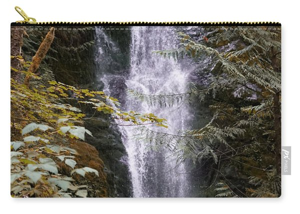 Carry-all Pouch featuring the photograph Magical Falls Quinault Rain Forest by Michael Hope