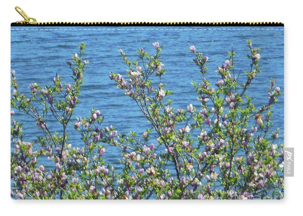 Magnolia Flowering Tree Blue Water Carry-all Pouch