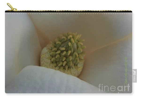 Magnolia Macro Against Purple Carry-all Pouch