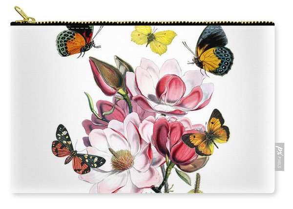 Magnolia With Butterflies Carry-all Pouch