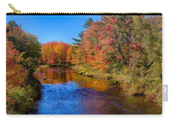 Maine Brook In Afternoon With Fall Color Reflection Carry-all Pouch