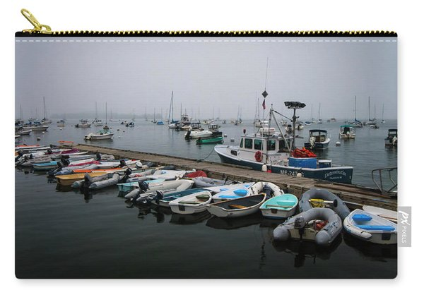 Maine Falmouth Boat Landing On Misty Morning Panorama Carry-all Pouch