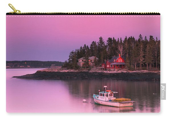 Carry-all Pouch featuring the photograph Maine Five Islands Coastal Sunset by Ranjay Mitra