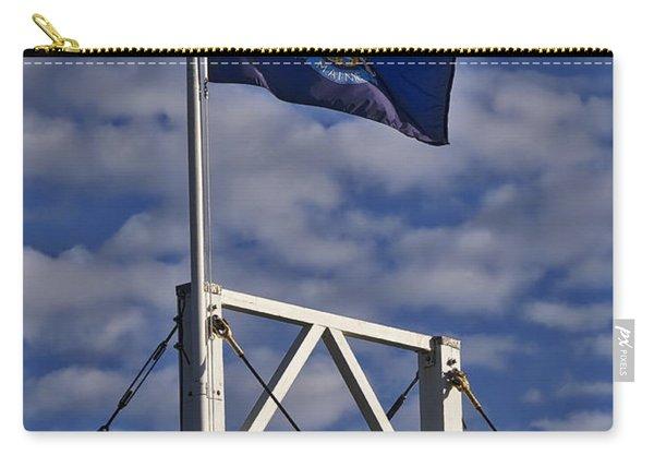 Maine Flag -perkins Cove Bridge Carry-all Pouch