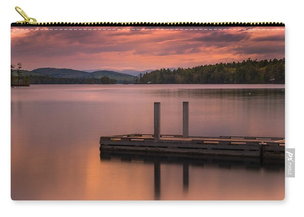Carry-all Pouch featuring the photograph Maine Highland Lake Boat Ramp At Sunset by Ranjay Mitra