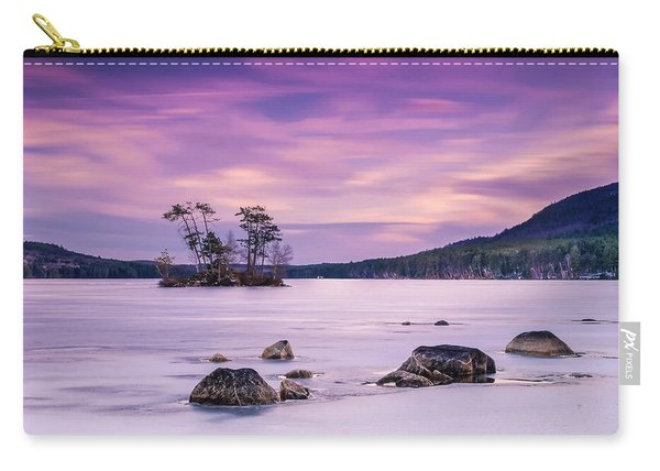 Maine Iced Moose Pond In Winter Sunset Carry-all Pouch