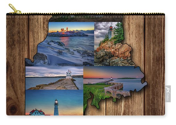 Maine Lighthouses Collage Carry-all Pouch