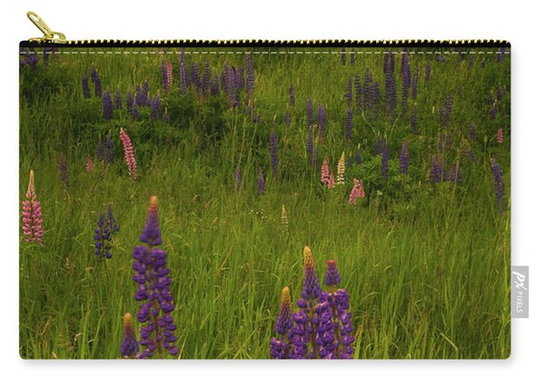 Maine Lupines And Home After Rain And Storm Carry-all Pouch