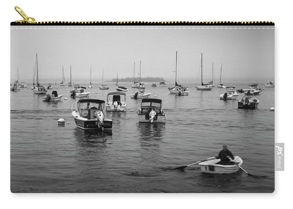 Maine Misty Winter Morning At Falmouth Harbor Carry-all Pouch