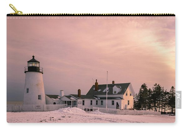 Maine Pemaquid Lighthouse After Winter Snow Storm Carry-all Pouch