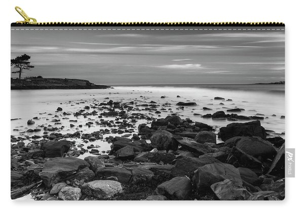 Maine Rocky Coast In Bw Carry-all Pouch