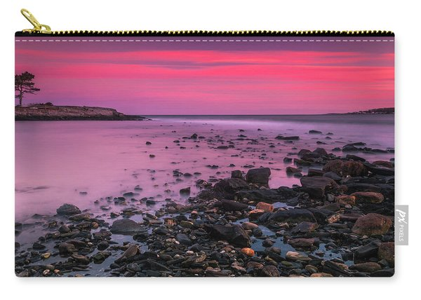 Maine Rocky Coastal Sunset In Portland Carry-all Pouch