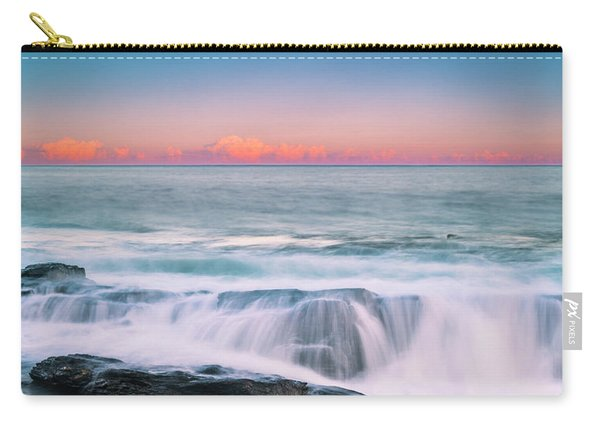 Maine Rocky Coastal Sunset Panorama Carry-all Pouch