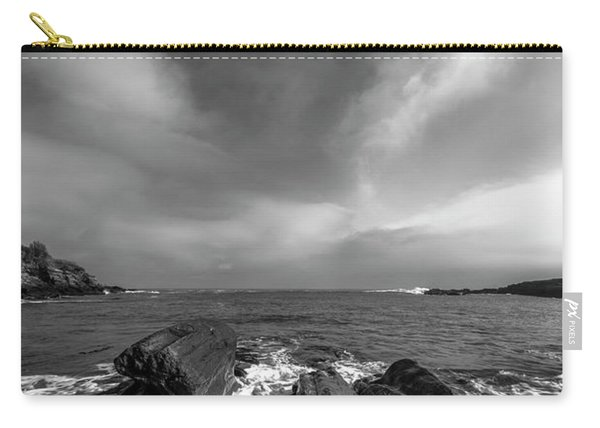 Maine Storm Clouds And Crashing Waves On Rocky Coast Carry-all Pouch