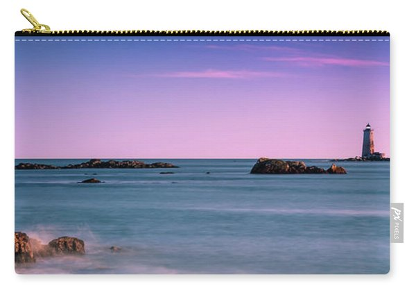 Maine Whaleback Lighthouse On Piscataqua River At Sunset Carry-all Pouch