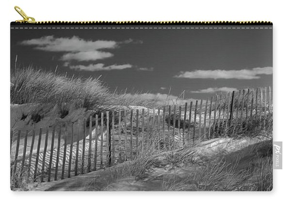 Maine Winter Coastal Dunes Bw Panorama Carry-all Pouch