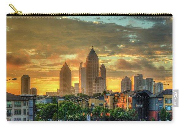 Majestic Gold Midtown Atlantic-station Atlanta Sunrise Art Carry-all Pouch