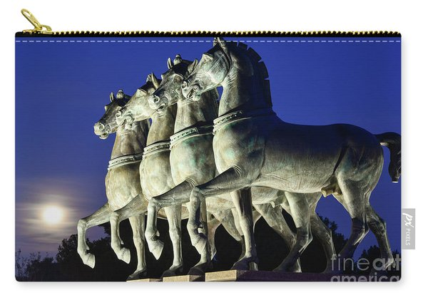 Majestic Horses In The Light Of The Moon Carry-all Pouch