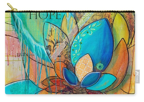 Spirit Lotus With Hope Carry-all Pouch
