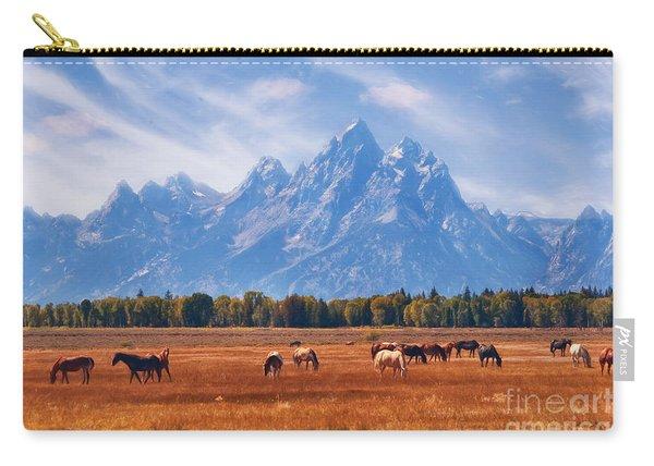 Majestic Teton Landscape Carry-all Pouch