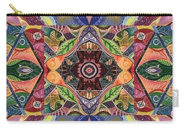 Carry-all Pouch featuring the mixed media Making Magic - A  T J O D  Arrangement by Helena Tiainen