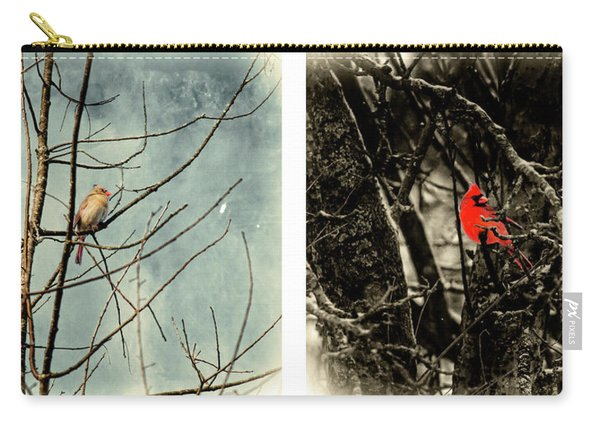 Male And Female Cardinal Carry-all Pouch