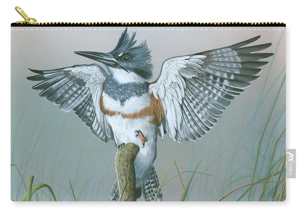 Male Belted Kingfisher Carry-all Pouch
