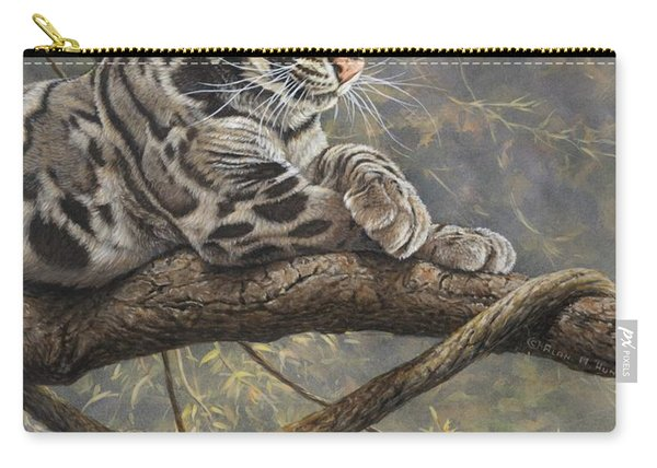 Carry-all Pouch featuring the painting Male Clouded Leopard by Alan M Hunt