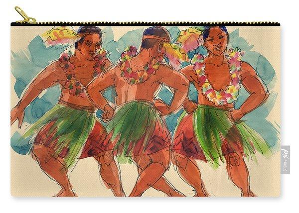 Male Dancers Of Lifuka, Tonga Carry-all Pouch